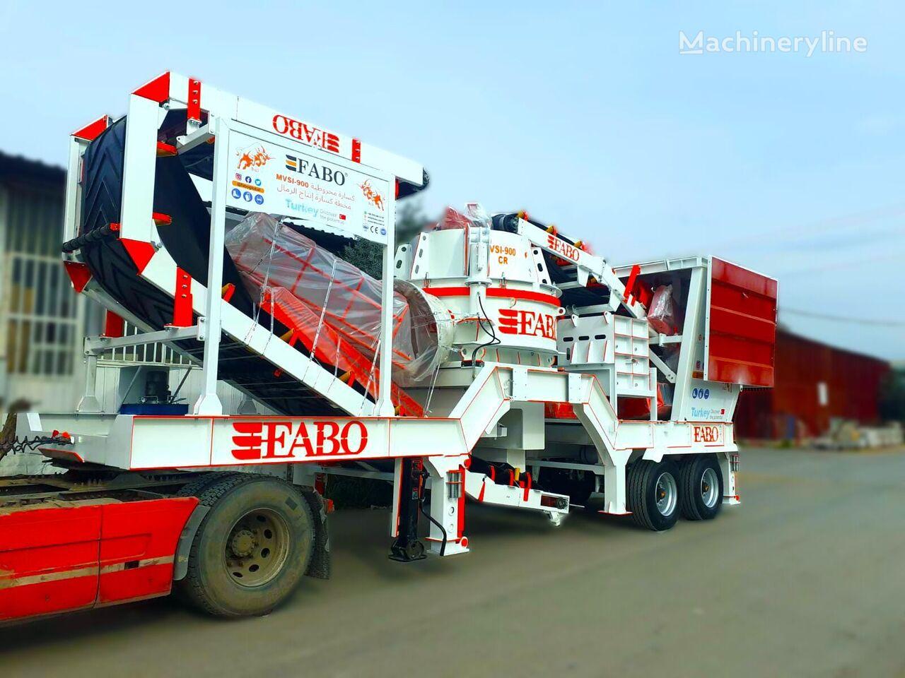 FABO MVSI-900 Mobilnaya Rotornaya Drobilnaya Ustanovka Vertikalnogo V planta trituradora nueva